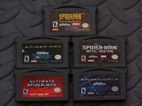 Lot of 5 Nintendo Game Boy Advance GBA Games Spiderman Titles