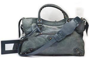 BALENCIAGA Hand Bag Small Stud City Greens Leather 710706