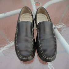 ECCO 590 DRIVING LOAFERS 44 MEN US 10-10.5 BROWN LEATHER SHOES SLIP ON