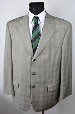 BAUMLER 120'S Virgin Wool Tartan Blazer UK 46 Jacket Coat Suit Eur 56 Gr Sakko