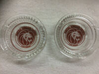 VINTAGE Original MGM Grand Hotel,  Las Vegas - Vintage Glass Ashtray - Lot of 2