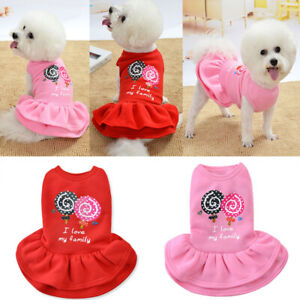 Pet Clothes Lollipop Skirt Small Dog Puppy Chihuahua Cat Comfy Princess Dress