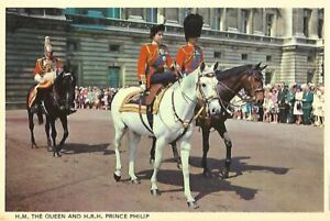 H.M. THE QUEEN and H.R.H. PRINCE PHILIP - POSTCARD