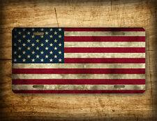 Americana Flag Stars License Plate Primitive Patriotic Vintage Antique Auto Tag