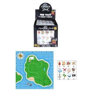 Game Pirate Treasure Map Stickers Party Bag Filler Reward Educational Maths Kids