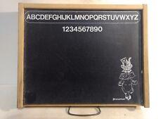 Vintage Pressman Peg Chest Easel Blackboard Wood Case Board Game gm564