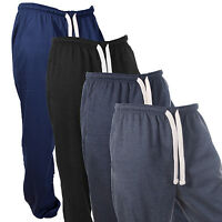 MENS FLEECE JOGGING BOTTOMS PLUS SIZE TRACK JOGGERS TRACKY WARM