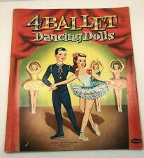 Vintage Ballet Paper Dolls Whitman Publishing Racine Wi 1951