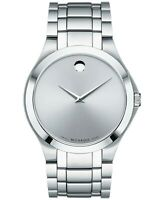 MOVADO $995 MEN'S COLLECTION 38M SILVER STNLSS STL SWISS MUSEUM WATCH 0606782