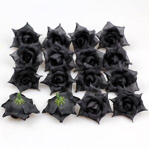 "8/120Pcs 2"" Artificial roses silk fake roses flower heads DIY wedding home decor"
