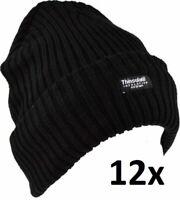 NEW Wholesale Job Lot 12 x Men's Ribbed Melange Hat FREE P/&P