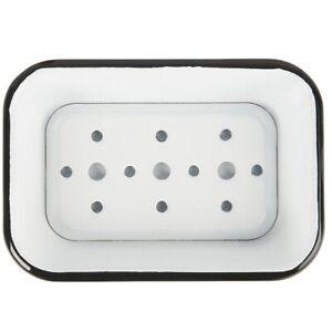 White Enamel Soap Dish 2 Parts by Ib Laursen