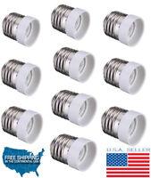 10pc E26 / E27 To E14 Converter Led Halogen CFL Base Light Lamp Bulbs Fixtures