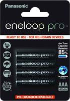 Panasonic eneloop Pro AAA Akku > 930 mAh 4er Blister 1,2 V BK-4HCDE/4BE