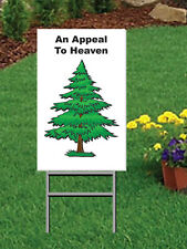 """12 x 18"""" An Appeal To Heaven Coroplast Yard Sign with Yard Stake - 2 sided"""