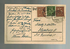 1922 Holstein Germany  Postcard Cover to Hamburg