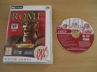 ROME TOTAL WAR Pc Cd ROM WL - RTS Strategy  FAST DISPATCH