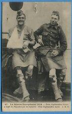 CPA: Deux highlanders blessés à bord du Paquebot qui les rapatrie / Guerre 14-18