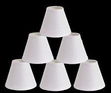 "Urbanest Linen Chandelier Mini Lamp Shades, hardback, 3""x6""x5"",White Set of 6"