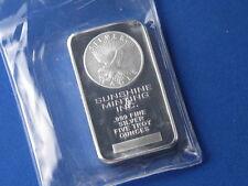 Sunshine Minting  .999 Silver 5 Oz Ingot Struck B5376