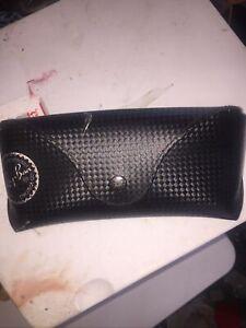 Ray Ban Eyeglasses/ Sunglasses Case Black Semi Hard Pre-owned