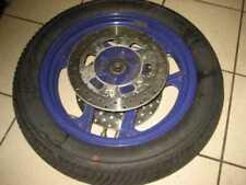 Ruote complete blu per moto Kawasaki