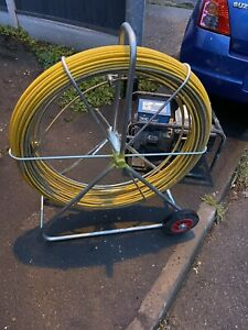 Cobra duct rod reel and frame 150 Meter Rod