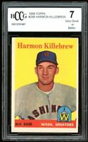 1958 Topps #288 Harmon Killebrew Card BGS BCCG 7 Very Good+