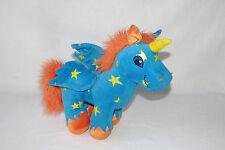 "Neopets Uni Unicorn Pegasus Starry Star Orange Blue Plush Stuffed Stars Toy 12"""