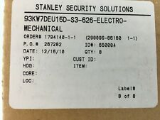 93KW7DEU15D-S3-626-Electro-Mechanical Stanley Security Solution Cylindrical Lock