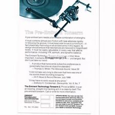 1986 Linn Products Index Speakers Stereo Hi-Fi Vtg Print Ad