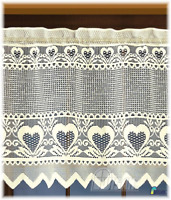 Kitchen Curtain Cafe Net Curtain Lace Cream Drop Sold by the metre