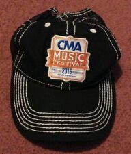 Cma Music Festival 2016 Nashville Adjustable Hat Cap Black With Mesh Back Nwot
