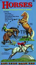 Vintage Reprint - 1962 - Horses Punch-Out Book - Reproduction