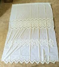 """JC Penney Home Collection Sheer Lace Insert Curtain Panel White 60 W X 84"""" L NOS"""
