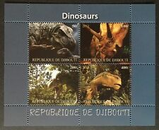 Dinosaurier Prehistoric Animals Dinosaurs Djibouti 2011 MNH KB Sheet