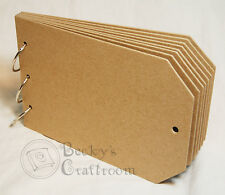 """5.5""""x8.5"""" Chipboard Tag Album 8pages 3 rings sturdy heavyweight chipboard"""