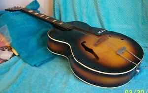 1961 Harmony Master H945 Arch top F-hole guitar Sunburst Rare Condition