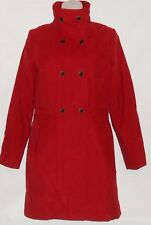 MNG by Mango Ladies Double Breasted Style Brushed Cotton Coat Red XS NWT