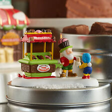 Dept 56 North Pole Snow Village Sidewalk Sweets 4054969 Chocolate Cart on Skiis