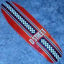 "D-STREET - Bomber - Cruiser Skateboard Deck -  8.25"" wide - Check & Red"