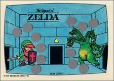 1989 Topps Nintendo Gamepack Top Secret Tips 2 Stickers 3 Scratch off Cards