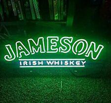 "Jameson Irish Whiskey Neon Sign 32"" Artwork Light Real Glass Poster Beer"