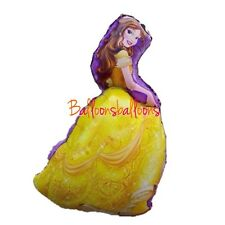 """Disney Beauty And The Beast Belle 36"""" Shaped  Helium Balloon Princess Party"""