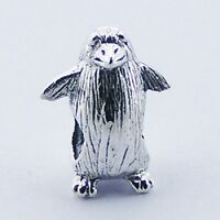 Silver bead cute  Penguin 14mm height 925 sterling silver for charm bracelet new