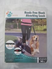 New Hands Free Shock Absorbing Leash For dogs up 2 90 lbs. Running Jogging Black