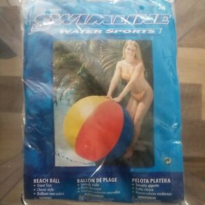 "New Vintage 48"" Swim LINE Beach Ball Brilliant New Colors CLASSIC"