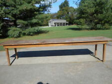 Nice Antique Vintage Harvest Farm House Style Dining Table 12 Ft Pine Wood Old