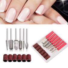 6Pcs Nail Art Drill Bit Replace Sandpaper Head Set Gel Grinding Machine Tool Kit