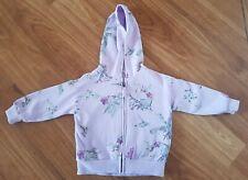 NEXT~Girl's Lilac Purple Floral Patterned Zip-Up Hoodie/Jacket/Sweatshirt 2/3 Y